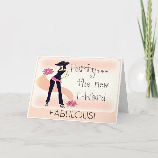 40th birthday card for women