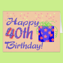 40th Birthday Card template