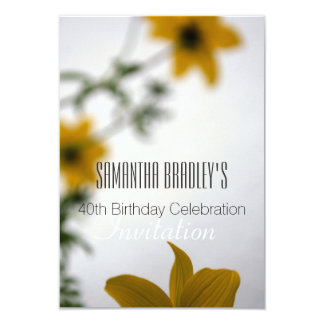 40th Birthday Celebration Floral Invitation