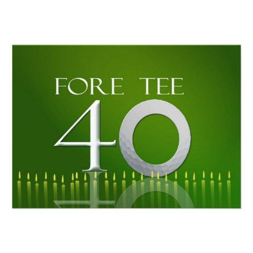 Personalized Fore tee Invitations | CustomInvitations4U.com