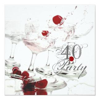 40th birthday celebration party major CUSTOMIZE 5.25x5.25 Square Paper Invitation Card