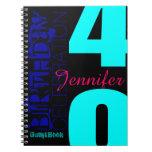 40th Birthday Celebration POP Custom guest Book Spiral Notebook