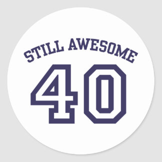 40th Birthday Classic Round Sticker