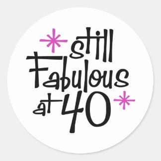 40th Birthday Classic Round Sticker