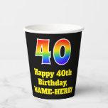 [ Thumbnail: 40th Birthday: Colorful, Fun, Exciting, Rainbow 40 ]