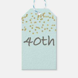 40th Birthday Confetti Gift Tags