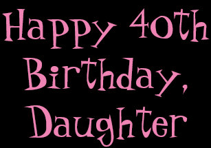40th Birthday Daughter Black Pink Gift Wrap Wrapping Paper