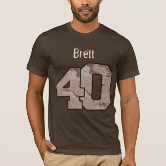 40th Birthday Desert Camouflage Custom Name A004 T-Shirt