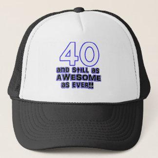 40th birthday design trucker hat