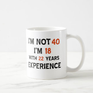 40th birthday designs classic white coffee mug