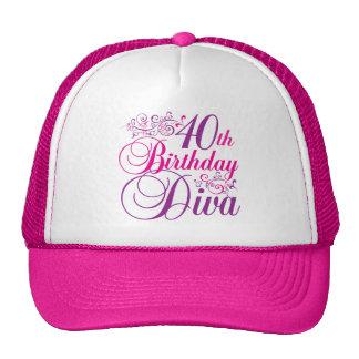 40th Birthday Diva Mesh Hat