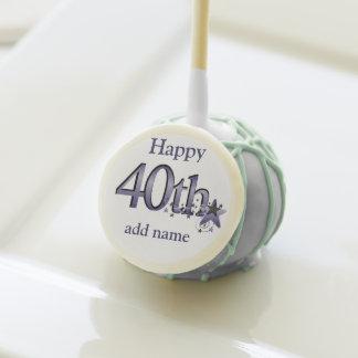 40TH BIRTHDAY FAVOR Cake Pops  Design!