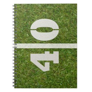 40th Birthday Football Field Notebook
