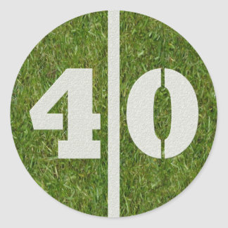 40th Birthday Football Sticker