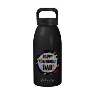 40th Birthday For Dad Drinking Bottles