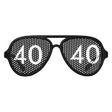 birthday 40th Birthday Gag Gift Aviator Sunglasses