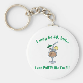 40th Birthday Gag Gift Basic Round Button Keychain