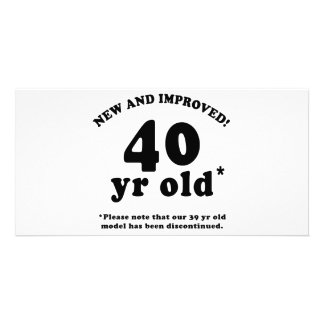 40th Birthday Gag Gifts Photo Card