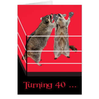 40th Birthday, general greeting card