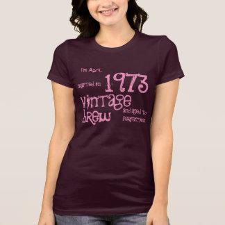 40th Birthday Gift 1973 Vintage Brew Plum V028 Shirts