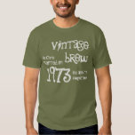 40th Birthday Gift 1973 Vintage Brew Tee Shirt