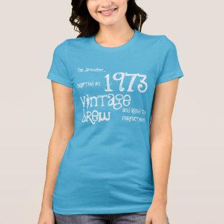 40th Birthday Gift 1973 Vintage Brew V013 Tshirt