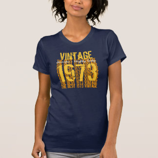 40th Birthday Gift Best 1973 Vintage Navy Gold Y42 Tee Shirts