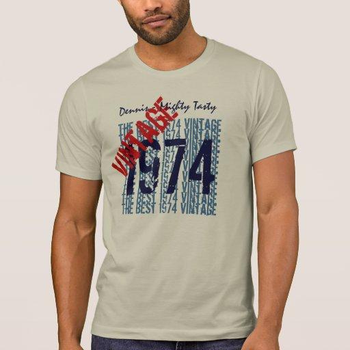 40th birthday gift best 1974 vintage custom v503g1 t shirt for Best custom t shirt