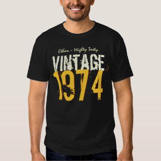 40th Birthday Gift Best 1974 Vintage V503Q T Shirt
