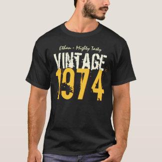 40th Birthday Gift Best 1974 Vintage V503Q T-Shirt