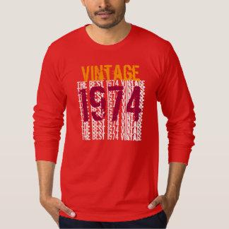40th Birthday Gift Best Vintage Year 1974 Tee Shirts