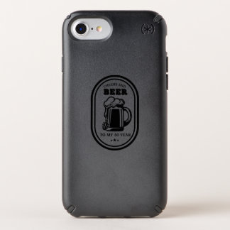40th Birthday Gift  Cheers And Beers To 40 Years Speck iPhone Case