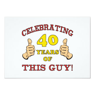 40th Birthday Gift For Him Card
