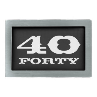 40th Birthday gift for men | Age belt buckle