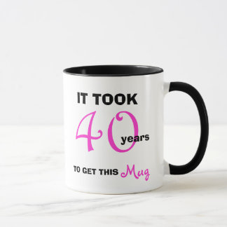 40th Birthday Gift Ideas for Women Mug - Funny
