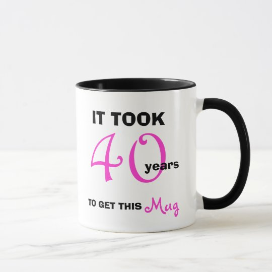 40th Birthday Gift Ideas For Women Mug