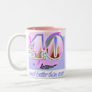 40th Birthday Gift Two-Tone Coffee Mug