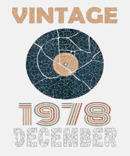 40th Birthday Gift Vintage Vinyl December 1978 App T Shirt