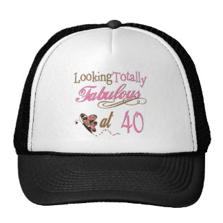 40th Birthday Gifts Mesh Hats