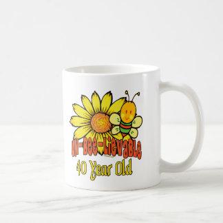40th Birthday Gifts Classic White Coffee Mug