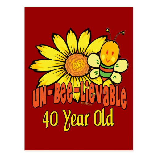 40th Birthday Gifts Postcard