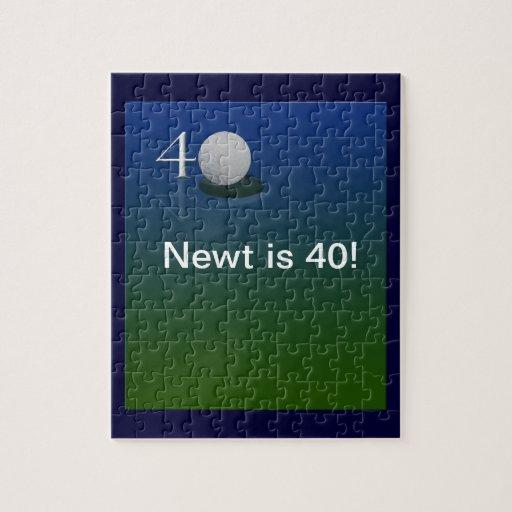40th birthday golf puzzle