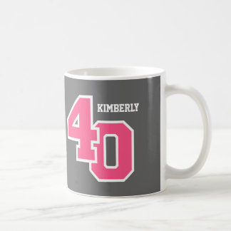 40th Birthday GRAY and PINK V01G Coffee Mug