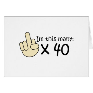 40th Birthday Greeting Card
