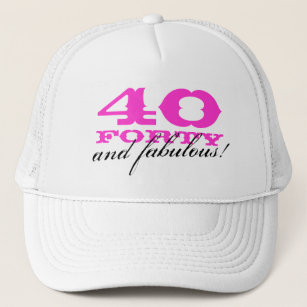 Fabulous 40 40th Birthday Party Hats Caps