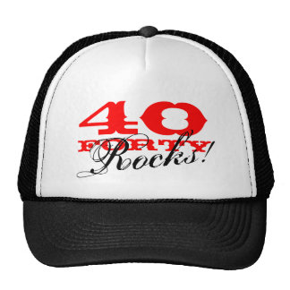 40th Birthday hat | Forty Rocks!