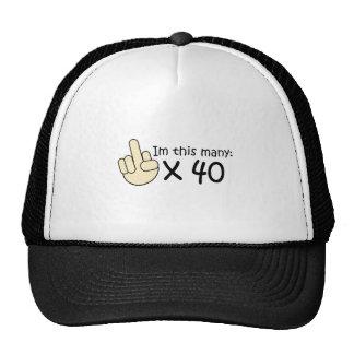 40th Birthday Hats
