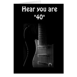 """40th"" BIRTHDAY HUMOR-BET YOU CAN ""STILL STRUM!!!! Card"