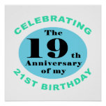 40th Birthday Humor Posters