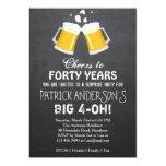 40th Birthday Invitation / Beer 40th Birthday 13 Cm X 18 Cm Invitation Card